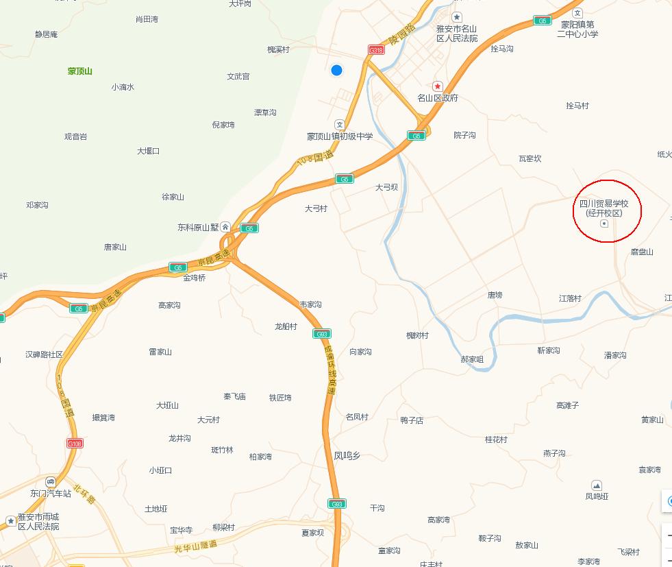四川省贸易学校地图
